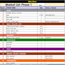 p90x market day list filtere sorted