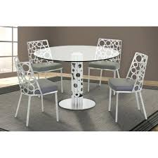48 round dining table living round dining table in brushed stainless steel and glass top 48