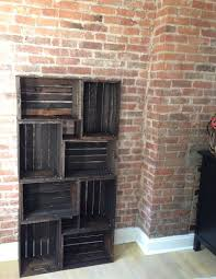 that time i made a bookcase crate bookcasewood crate shelvesrustic bookcasetv stand