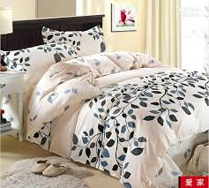 black and cream comforter blue gray leaf flower cotton queen size duvet quilt doona cover bedding black and cream comforter