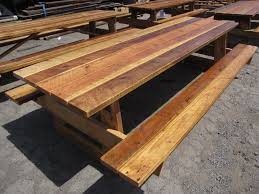 great reclaimed picnic table outdoor heritage salvage