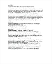 Nursing Resume Objectives labor and delivery nurse resume arielime 86
