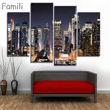4pcs modular poster board no framed canvas oil painting new york manhattan pictures city landscape wall on poster board wall art with 4pcs modular poster board no framed canvas oil painting new york