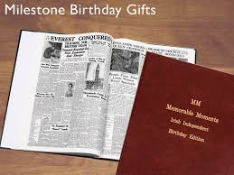 newspaper book for milestone birthdays