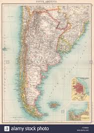 S AMERICA: Argentina Cile Uruguay Paraguay. Buenos Aires; Valparaiso, 1901  Mappa Foto stock - Alamy