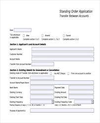 Sample Standing Order Mandate Form
