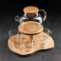 <b>Чайный набор</b> на деревянной подставке в России. Купить ...
