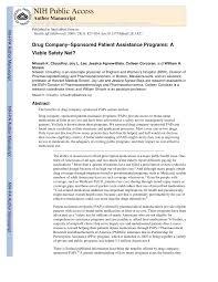 pdf pany sponsored patient istance programs a viable safety net