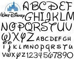Disney Font Walt Disney Font Cut Files Disney Alphabet Svg Walt Disney Font Cut Files Svg Dxf Png Walt Disney Letters Files Disney Font