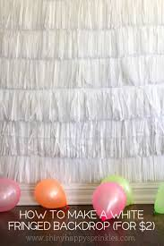How to make a white fringed backdrop (for $2!)