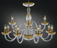 crystal glass chandelier sophia decorated with gold matte painting