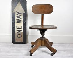 vintage wooden office chair. vintage wood office swivel chair desk decor wooden