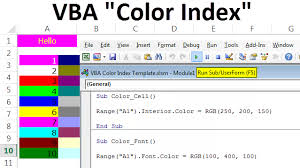 Vba Color Chart Vba Color Index Top Ways To Use Color Index Property In