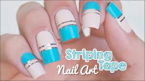 Striping Tape Nail Art - YouTube