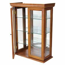 wall mounted curio cabinet display case