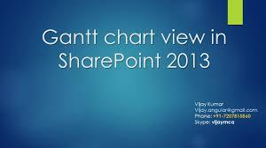 Gantt Charts In Sharepoint 2013