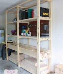 plain build easy diy garage shelving diy garages how to shelving ideas woodworking inside how to build garage shelves d