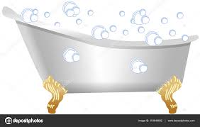 old fashioned bath with bubbles stock photo