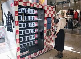 Japanese Vending Machines Fascinating Uniqlo Installs Clothing Vending Machines In US Airports Malls