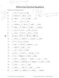 balancing chemical equations answers elegant equation practice writing and problems unique worksheet new types of reactions key 26 5