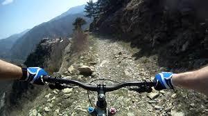 extreme urban downhill mountainbike ride