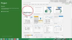 Sample Project Plans In Ms Project Ms Project Create A New Plan Pictured Guide
