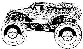 Small Picture Easy monster truck coloring sheets free printable monster truck