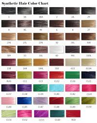 Synthetic Hair Color Chart