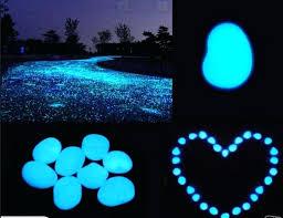 glow in the dark garden pebbles bag luminous cobblestones pebbles stones glow in the dark for glow in the dark garden pebbles