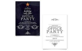 Holiday Seasonal Invitation Templates Word Publisher