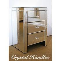 bed side furniture. venetian mirrored 3 drawer bedside table bed side furniture
