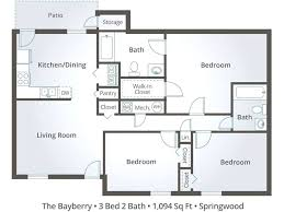 Beautiful Three Bedroom Three Bath House Plans 3 Bedroom Flat Plan Drawing  Breathtaking Three Apartment Floor Plans
