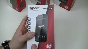 Yezz Andy A5 - déballage