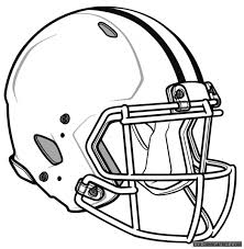 nfl coloring pages helmet coloring4free