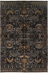 empress rug in black  gold design by surya – burke decor