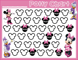 Potty Training Charts For Girls Potty Training Free Printable Minnie Mouse Daisy Duck Free