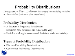 Types Of Probability Probability Distributions Statistics Lecture Slides