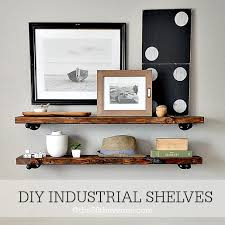 industrial diy furniture. DIY - Home Decor : These Industrial Shelving Is Super Easy To Make And A Diy Furniture I