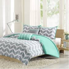 brilliant gray and green comforter sets klr intelligent design laila set for mint green bed set decor