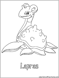 Lapras Pokemon Coloring Pages Sketch Coloring