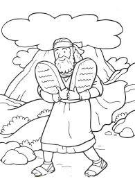 Ten Commandments For Kids Coloring Pages