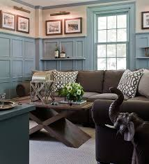 brown and blue living room. Brown And Blue Interior Color Schemes For An Earthy Elegant Room Living