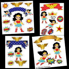 Wonder Woman Free Printable Cake Toppers Oh My Fiesta For Geeks