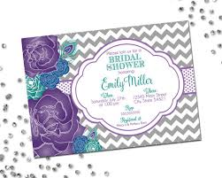 peacock invitations peacock bridal shower invitation flower bridal shower purple