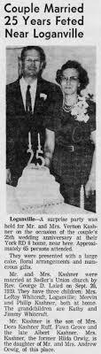 1964 25th Wedding Anniversary Mr & Mrs Vernon Kashner of York RD ...