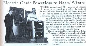 modern electric chair. electric chair powerless to harm wizard (jan, 1929) modern