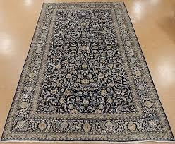persian kashan hand knotted wool navy blue large lavish oriental rug 10 x 16