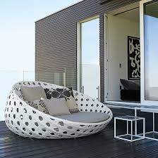 shown above is the woven outdoor chaise lounge from b b italia s canasta collection