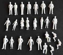150 Scale Architecture White Model Figures People Pack of 2550