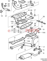 92152032 saab nut genuine saab parts from esaabparts rh esaabparts kia exhaust system diagram